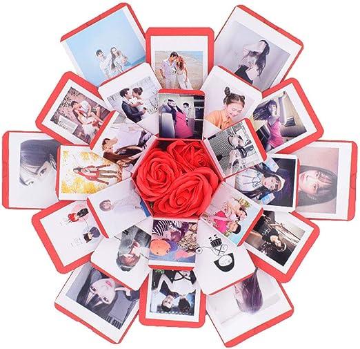 Caja de Regalo Creative Explosion Box 6 Caras, DIY Álbum de Fotos ...