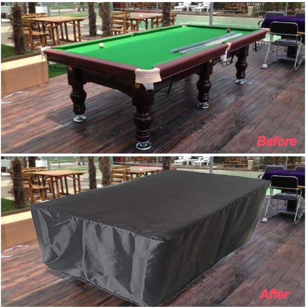 rei/ßfest Winddicht aus wasserdichtem Polyester-Gewebe f/ür Au/ßen Billard Snooker Billardtisch DDLL Pool Tischhussen 7//8//9 ft Anti-UV