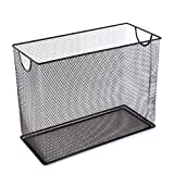 U Brands Mesh Steel Desktop Hanging File Holder, Letter Size, 12.4'' x 9.53'' x 5.5'', Black