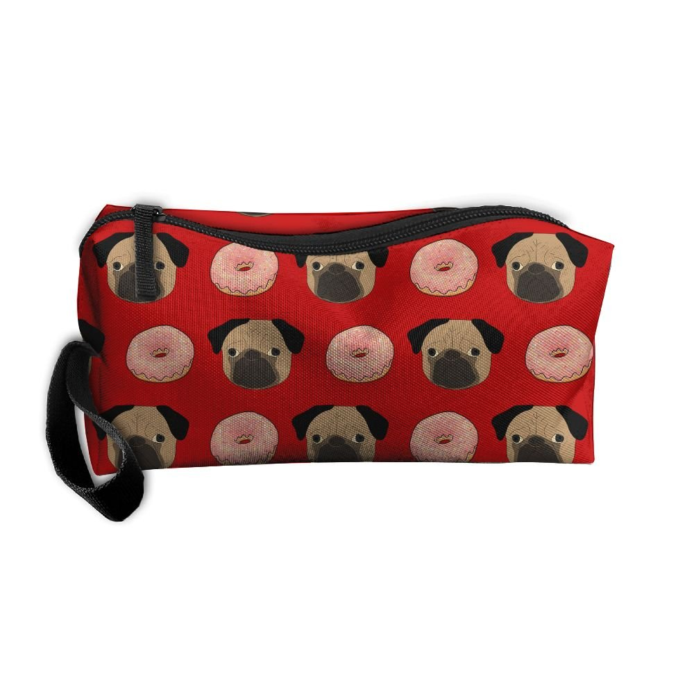 777cbaef241e Donuts Pug Puppy Dog Cute Pattern Portable Make-up Receive Bag Hand  Cosmetic Bag Makeup Bag Sewing Kit Medicine Bag With Hanging Zipper For  Home Office ...