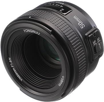Yongnuo YN 50 mm f1.8 Standard Prime lente gran apertura Auto ...