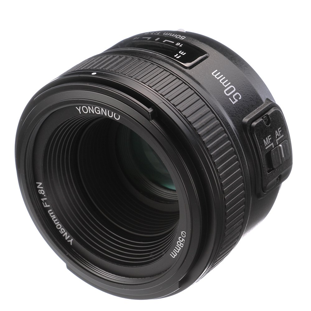 YONGNUO YN 50mm F1.8 Standard Prime Lens Large Aperture Auto Manual Focus AF MF for Nikon DSLR Cameras by Yongnuo