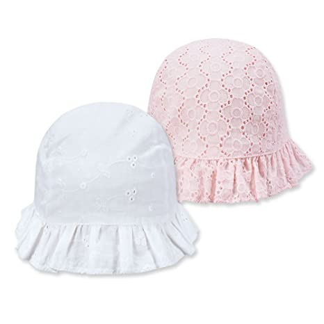 4b5d72a5 keepersheep Baby Girl Eyelet Topee hat Set (6-12 Months): Amazon.in: Baby