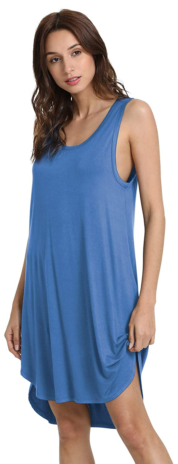 GYS Womens Soft Bamboo Scoop Neck Nightgown