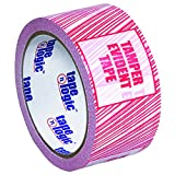 Tape Logic TLT905ST016PK Security Tape, ''Tamper Evident'', 2.5 Mil, 3'' x 110 yds, Red/White, 6/Case