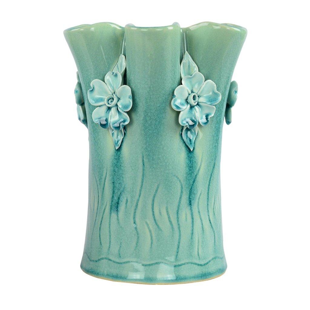 MAHONGQING 花瓶北欧手作りセラミック花瓶リビングルームの装飾現代ミニマリスト装飾ドライフラワーシミュレーション花フラワーアレンジャー (Size : M) B07RV231K8  Medium