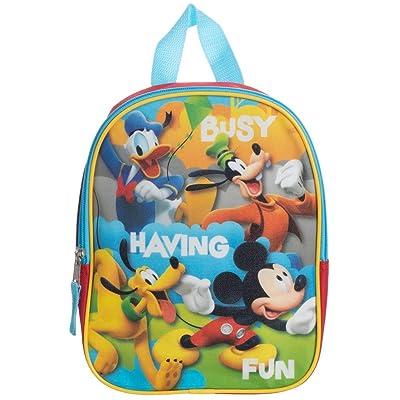 "Mickey Mouse Toddler Boys Backpack Book Bag Preschool Mini 10\"" + Name Tag | Kids\' Backpacks [5Bkhe0901841]"