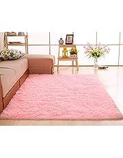 oenkeise Modern Area Rugs Living Room Bedroom Soft Shaggy Carpet Anti-Slip Fluffy Plush Area Rugs