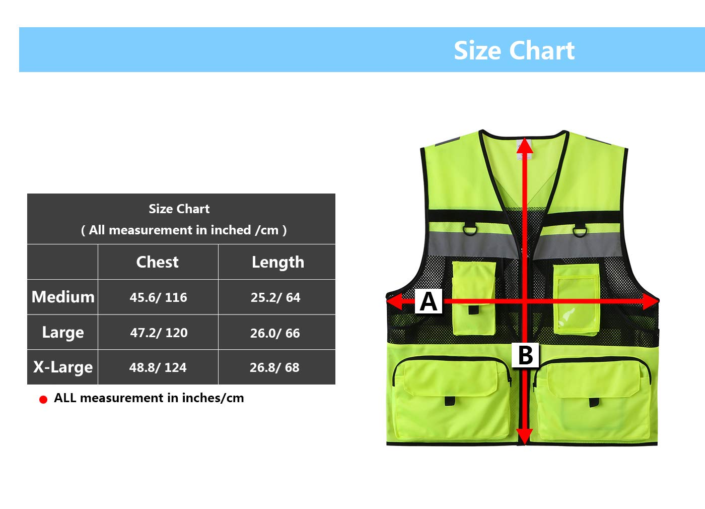 Hogear 11 Pockets Class 2 High Visible Reflective Safety Vest Breathable and Mesh Lining Workwear (M-2XL, Yellow Black) (Small, Yellow+Black)