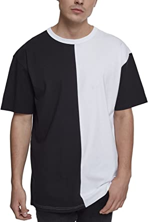 d95c673e9bfc40 Urban Classics Herren Colour Block T-Shirt Oversize Harlequin Tee   Amazon.de  Bekleidung