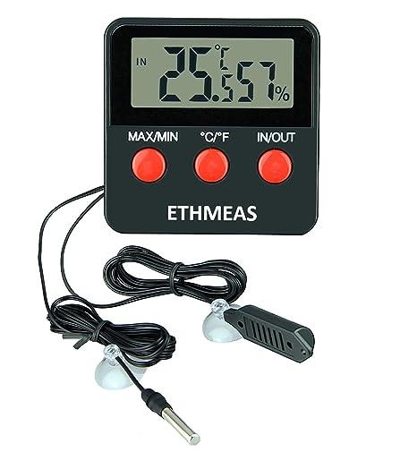Amazon.com: ethmeas Termómetro Digital y higrómetro para ...