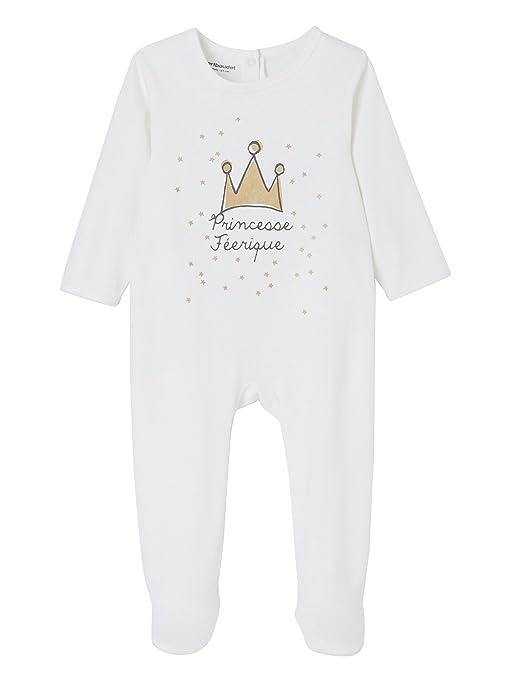 5d771e083b05f VERTBAUDET Lot de 3 pyjamas bébé coton dos pressionné Lot Gris foncé  NAISSANCE - 50CM