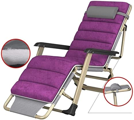 ADHW Reclinables, sillas reclinables, Fuera Plegable Silla de jardín, sillas reclinables Balcón, Jardín Tumbona Ligera, Tumbona (Color : Purple): Amazon.es: Hogar