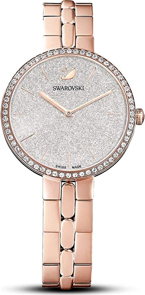 Swarovski 5517803 Cosmopolitan - Reloj de pulsera para mujer, correa de metal, color rosa, chapado en oro rosado