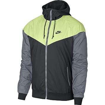 dc90df2dca1c Nike M NSW WR JKT Veste pour Homme S Gris Anthracite/Jaune (Anthracite/