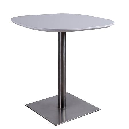 Mesa Alta Fijo 93 cm – Color Blanco – Ideal Comedor recepción Bar ...