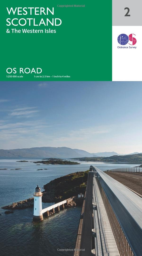 Western Scotland & the Western Isles 1:250000 (OS Road Map)