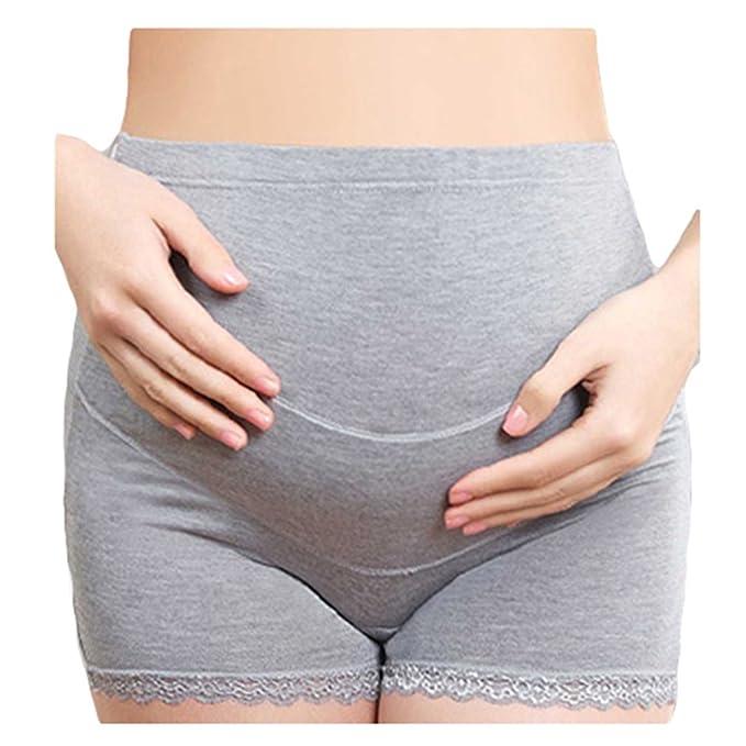 4ff0d4695 Juleya 2 Unids Lote Encaje Boxer Ropa Interior Embarazada de Maternidad  Bragas Cortas para Mujeres