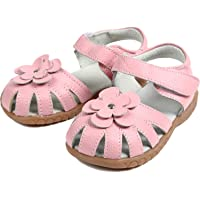 [Dream-studio] cute baby children girl sandals toe protection flower motif formal shoes each size (size 32 / 18.5? Pink)