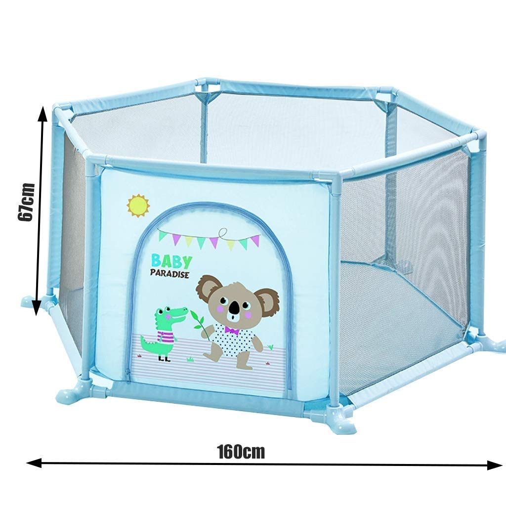 Giving Our Kids Play Space They Need >> Amazon Com Tyuio Kid Ball Pit With Basketball Hoop 1 6 Years Child