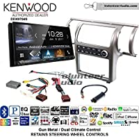 Volunteer Audio Kenwood DDX9704S Double Din Radio Install Kit with Apple Carplay Android Auto Fits 2003-2004 Infiniti G35 (Gun Metal) (Dual zone A/C controls)