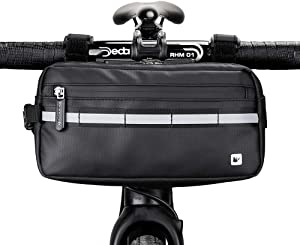 IPASUN Bike Handlebar Bag Storage Pouch for Bicycle Front Bike Frame Bag for Mountain Bike, Road Bike with Reflective Strip 5 in 1 Chest Shoulder Hand Waist Bag