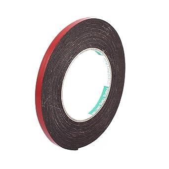sourcingmap® 8 mm x 2 mm de doble cara cinta adhesiva a prueba de golpes