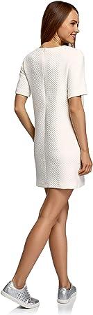 oodji Collection Mujer Vestido Recto de Tejido Texturizado