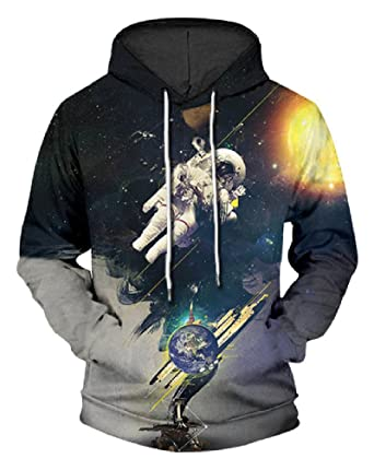 22b793818174 JW 3d Fashion Hoodies Sweatshirt Pullover Astronaut Space Wholesal Autumn  Winter Hooded Pullovers