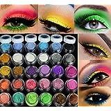 Hosaire 20 Piezas Purpurina Mate Cosmético Crema de Maquillaje Paleta Shimmer 20 Colors