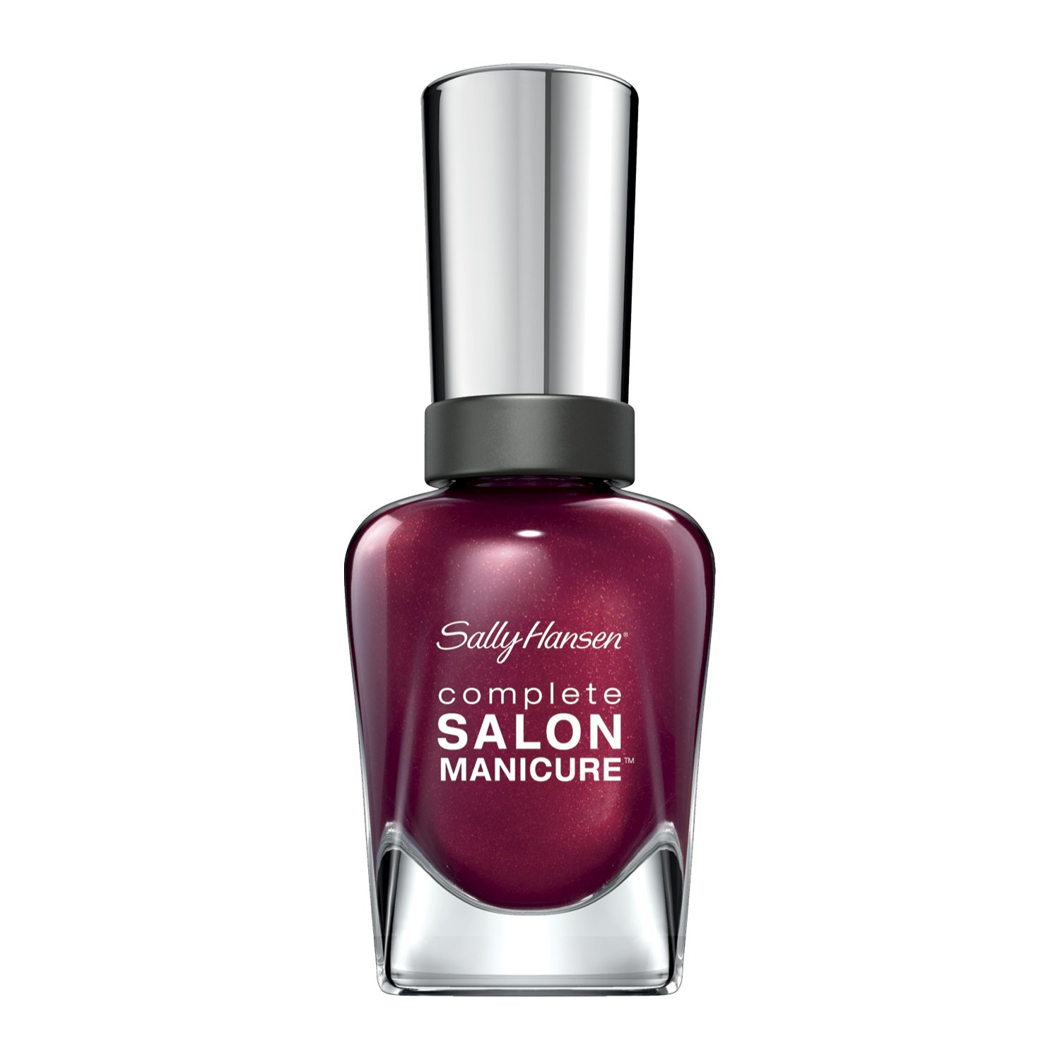 Sally Hansen Complete Salon Manicure Nail Polish, Wine Not 0.5 Ounce Long-Lasting Nail Polish with Gel Shine and Nourishing Care
