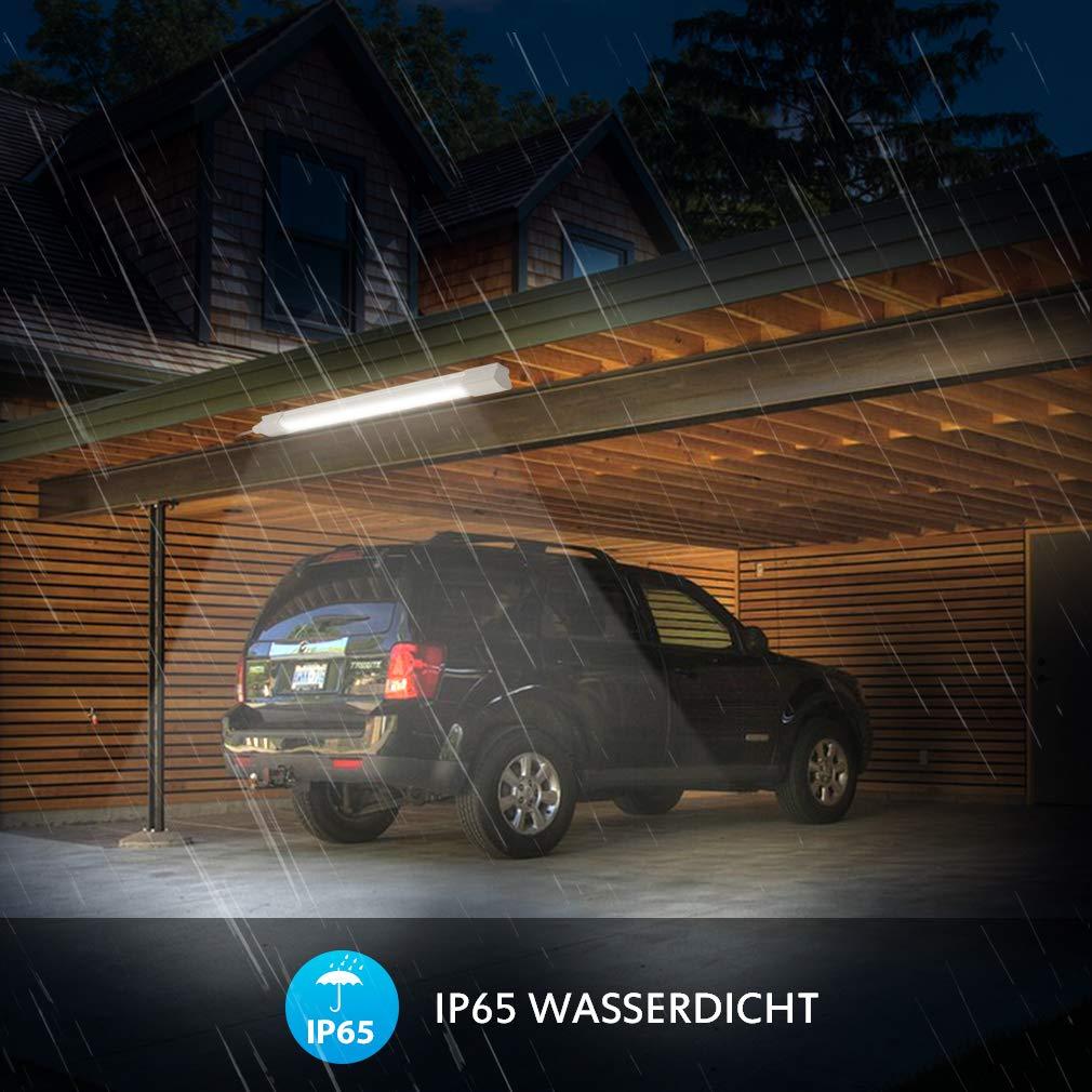 IP65 wasserdicht Deckenleuchte f/ür Garage Keller Bad Werkstatt Warenhaus Neutralwei/ß 4000K Led R/öhre Flimmerfrei Deckenlampe Wannenleuchte Led Feuchtraumleuchte 120cm 110Lm//W Oeegoo 25W 2800Lm