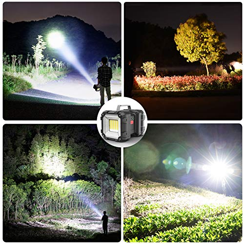 Rechargeable Flashlight, Alpswolf LED Spotlight Flashlight 15000mAh 4000LM 20h Ultra-long Standby 3+4 Lights Modes Ultra Bright Flashlight Waterproof with USB Output as a Power Bank