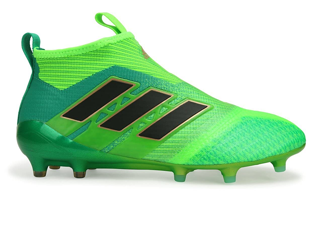 new product fb308 20f97 Amazon.com  adidas Mens Ace 17+ Purecontrol Fg Solar GreenCore Green Black Soccer Shoes  Soccer
