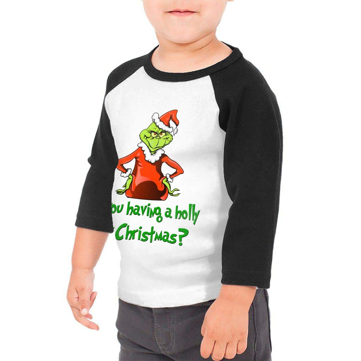 yimo Powered by Plants Vegan 3D Printing Unisex Toddler Baseball Jersey Contrast 3//4 Sleeves Tee