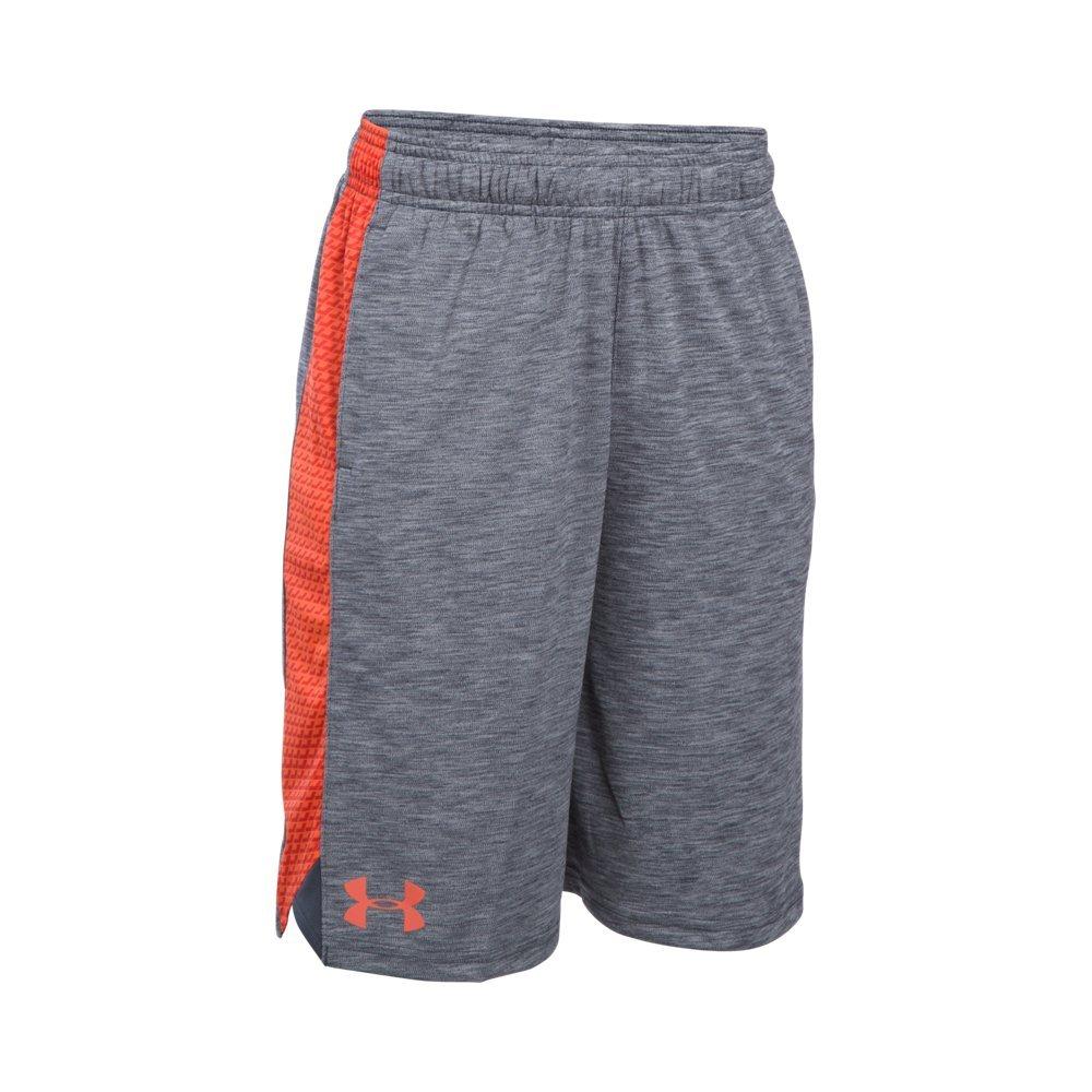 Under Armour Boys' Eliminator Printed Shorts, Stealth Gray (022), Youth Medium