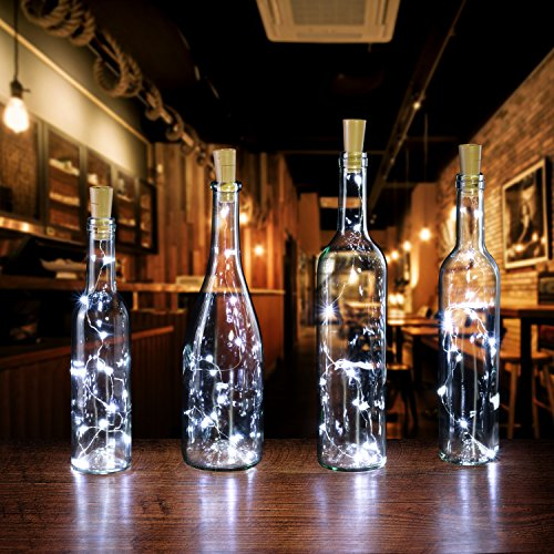 Blue Label Liquor (Wine Light, AGPtek 6 Pack of Bottle LED Wine Light 30in Copper Wire light Starry Light for Christmas/Wedding/Party Halloween/Decoration - White)