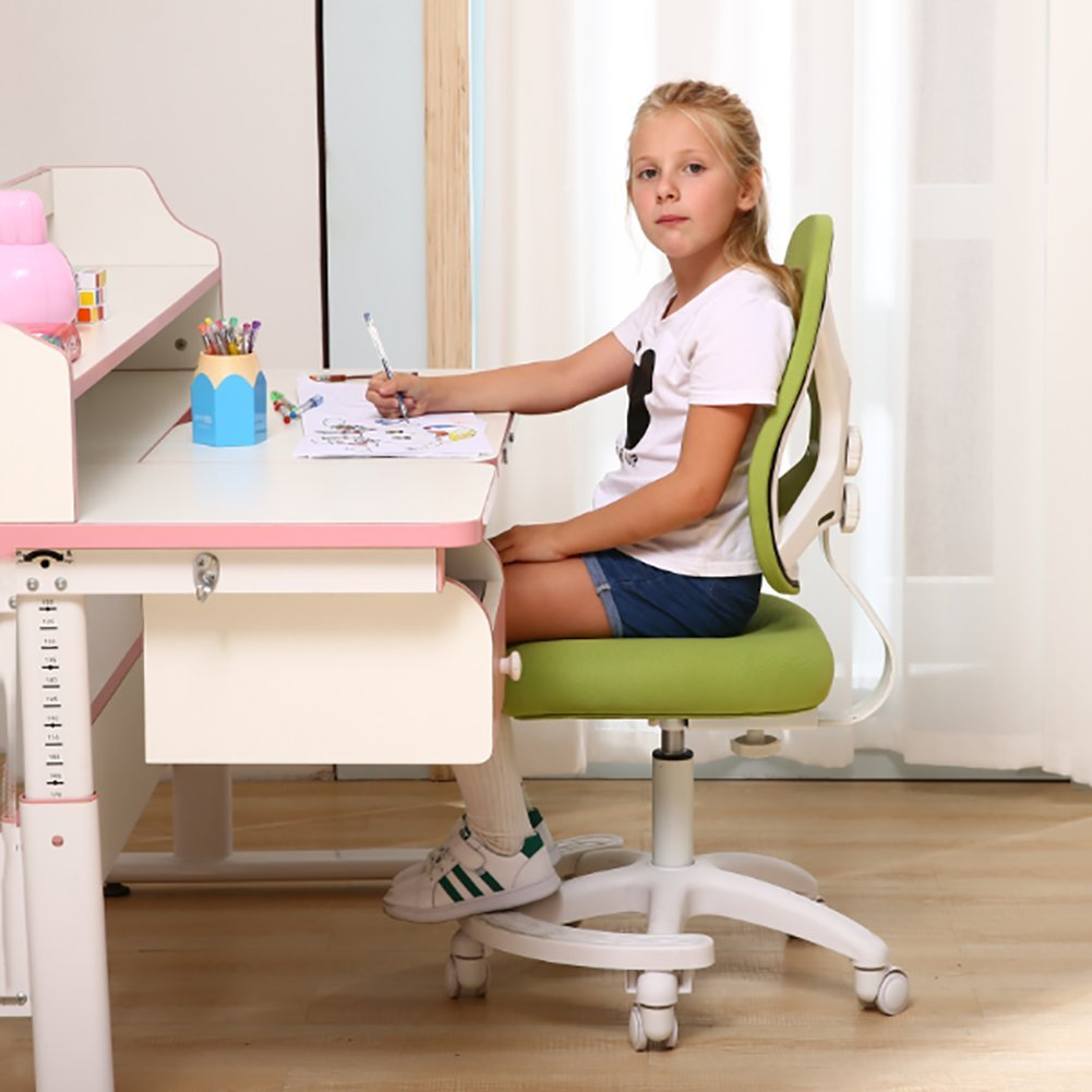 Amazon.com: Adjustable Children Desk Chair Low-Back Computer Chair Kids Study Chair Office Chair-C: Kitchen & Dining