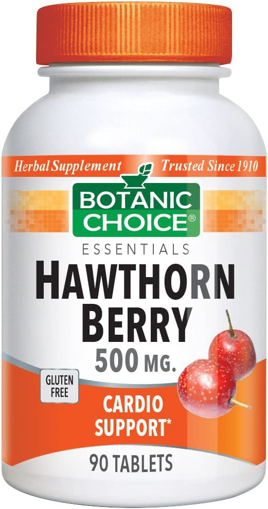 Botanic Choice Hawthorn Berry 500 mg, 90 Tablets Pack of 5