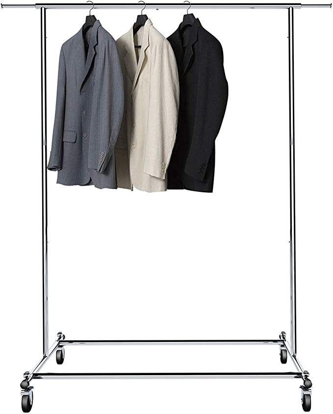BigRoof Clothing Rack, 6.3FT Heavy Duty Clothes Rack Free Standing Garment Rack On Wheels Commercial Portable Closet Jacket Coat Rack Rolling Drying ...
