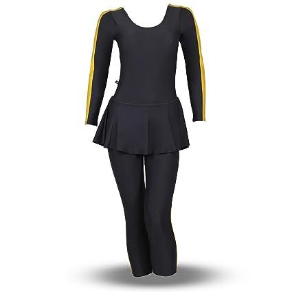 Buy Women Swim Wear Frock Full Sleeves 34th Length Nylon