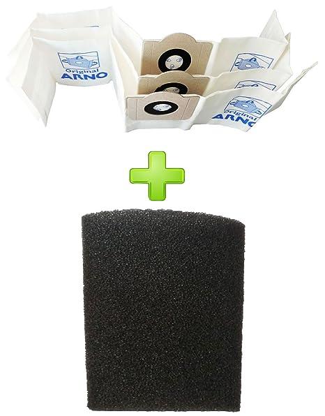 0565d6d6a Kit Saco + Filtro Espuma Aspirador Arno Agua Po AR12 Agpo H2ac H2po H3po  H4po Original