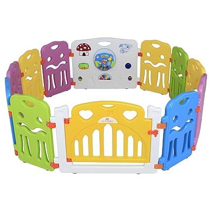 Sungle Parque de bebé con el Juguete Integrado y Volante eléctrico (m 12 Piezas)