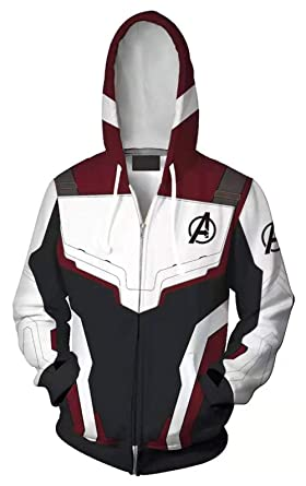 5c971992 Amazon.com: Riekinc Superhero Hoodie Adult Sweatshirt Jacket Halloween  Cosplay Costume: Clothing