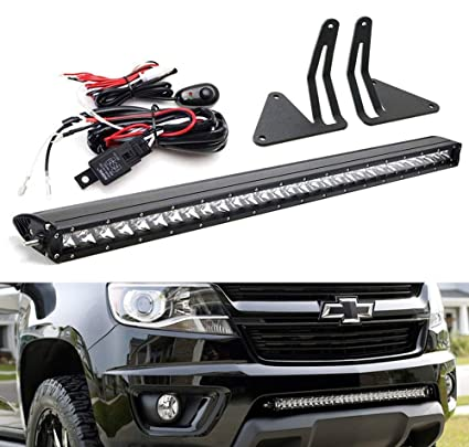 Groovy Amazon Com Ijdmtoy Lower Grille Mount 30 Led Light Bar Kit For Wiring Cloud Hisonuggs Outletorg