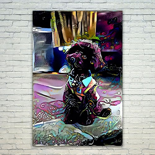 Westlake Art - Poodle Dog Poster Prints 12x18 inch Modern Artwork Print Abstract Paintings Pictures Printed Wall Art for Home Office Decorations Unique Gift Idea (Pictures Dog Poodle)