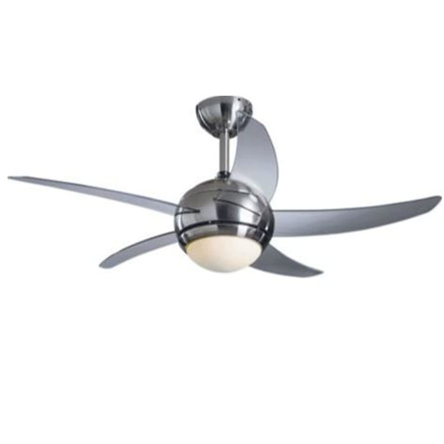 HSB Bundle ] Living Manhattan Satin Nickel Finish Ceiling Fan with
