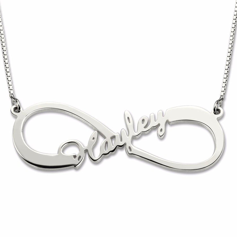 a1b8b61021bab Amazon.com: Amandasessom Personalized Name Necklace - Single Name ...