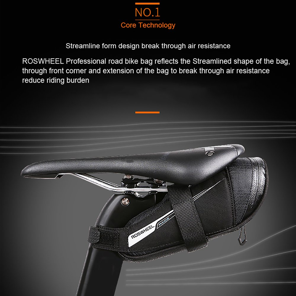 Roswheel Professional Road Bike Bag Bike Saddle Bag Bicycle Seat Storage Bags by Roswheel (Image #3)