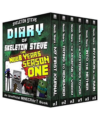 Diary of Minecraft Skeleton Steve the Noob Years - FULL Season One (1): Unofficial Minecraft Books for Kids, Teens, & Nerds - Adventure Fan Fiction Diary ... Mobs Series Diaries - Bundle Box Sets 6) Entertainment Bundle